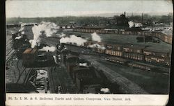 St. Louis, Iron Mountain and Southern Railroad Yards and Cotton Compress Postcard