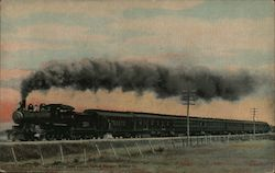 New England States Limited, Central Vermont Railway Company Postcard