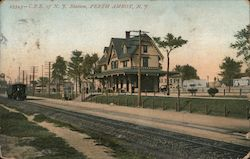 Central Railroad of New Jersey Station Postcard