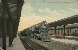 Train at Union Station Postcard