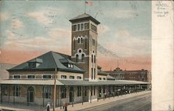 Cotton Belt Railroad Depot Postcard