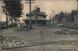 LS & MS Depot And Park Postcard