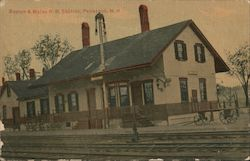 Boston & Maine Railroad Station Postcard