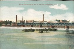 Rock River Dam - Chicago & North Western Bridge
