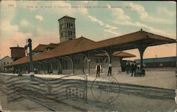The M. K. and T. (Katy) Passenger Station Postcard