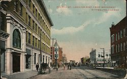 Fourth Street Looking East from Broadway Postcard