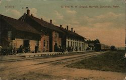 Chicago and North Western Depot Postcard