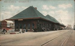 Erie Rail Road Station Postcard