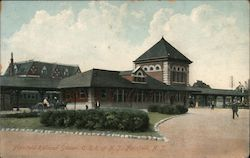 Central Railroad of New Jersey Railroad Station Postcard