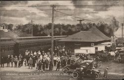 Morning Arrivals At Station Postcard