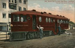 "Motor Car, ""La Jolla"" - On the Line of the Santa Fe Postcard"