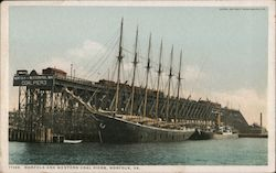 Norfolk and Western Coal Piers Postcard