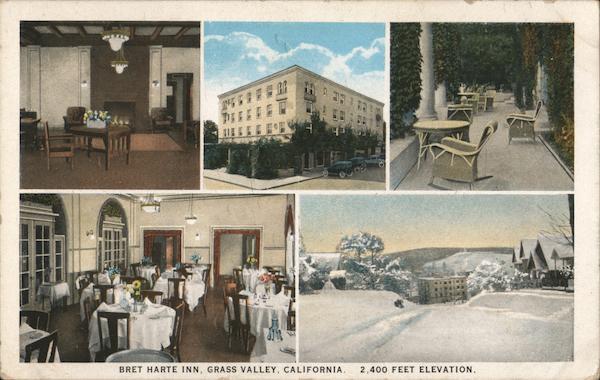 Bret Harte Inn Grass Valley, CA Postcard