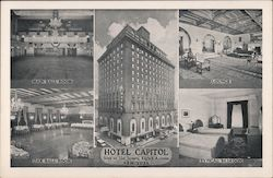 Views in Hotel Capitol Postcard