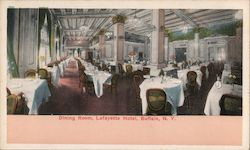 Dining Room, Lafayette Hotel Postcard
