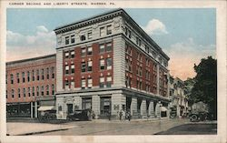 Corner Second and Liberty Streets Postcard