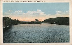 Allegany River (from Main Street Bridge) Postcard