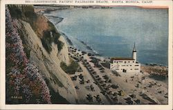 Lighthouse, Pacific Palisades Beach Postcard