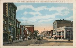 State Street, Looking West from Crescent Park Postcard