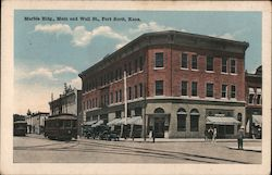 Marble Bldg., Main and Wall St. Postcard