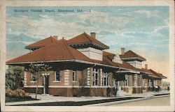 Michigan Central Depot Postcard