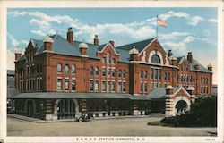 Boston and Maine Railway Station Postcard