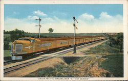 "Union Pacific Streamliner ""City of Denver"" Postcard"