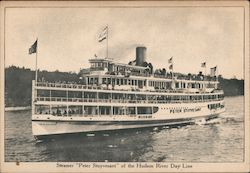 "Steamer ""Peter Stuyvesant"" Of The Hudson River Day Line Postcard"