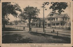 Boarding Homes For Students, North Texas State Normal College Postcard