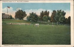 Athletic Field, N.Y. Military Academy Postcard