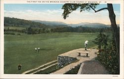 The First Tee On The Brandon Country Club Course Postcard