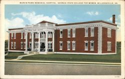 Marvin Parks Memorial Hospital, Georgia State College for Women Postcard