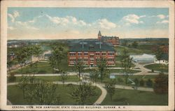 General View, New Hampshire State College Buildings Postcard