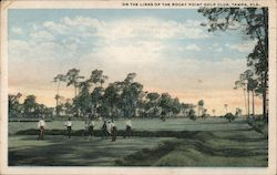 On the Links of the Rocky Point Golf Club Postcard