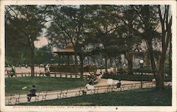 Music Pavilion, Central Park Postcard