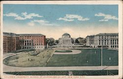 Columbia University School of Journalism on Left Postcard