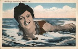 This is the Life - Swimming Woman, Rosie O'Donnell Look Alike Postcard