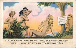 Sunshine Nudist Camp Postcard