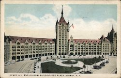 New D. & H. Journal Building and Plaza Postcard
