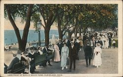 Lake Front at Euclid Beach Park Postcard