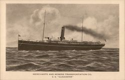 S.S. Gloucester, Merchants & Miners Transportation Company Postcard