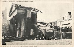 Unitarian Church in Ruins Postcard