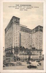 Commodore Hotel, 42nd and Lexington, Grand Central Terminal Postcard