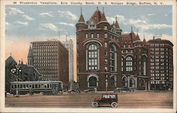 Prudential Telephone, Erie County Bank, D.S. Morgan Buildings Postcard
