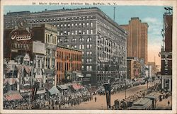 Main Street From Shelton Sq. Postcard