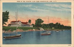 View of the Country Club from Skaneateles Lake Postcard