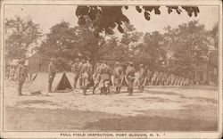 Full Field Inspection, Fort Slocum Postcard