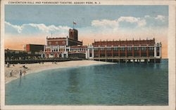 Convention Hall and Paramount Theatre Postcard
