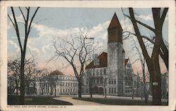 City Hall and State House Postcard