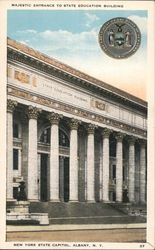 Majestic Entrance to State Education Building, New York State Capitol Postcard